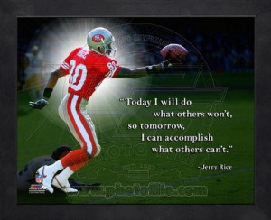 Jerry Rice San Francisco 49ers Pro Quotes Framed 8x10 Photo at Amazon ...