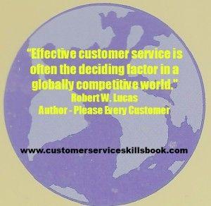 Customer Service Quote – Robert W. Lucas