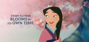 flowers, mulan, blooms, time, disney quotes