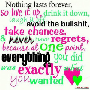 ... Forever So Live It Up, Drink It Down, Laugh It Off Facebook Quote