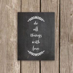 Printable Chalkboard Art - Laurel Art Print with Quote - Do All Things ...