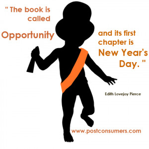 "... , and its first chapter is New Year's Day."" Edith Lovejoy Pierce"