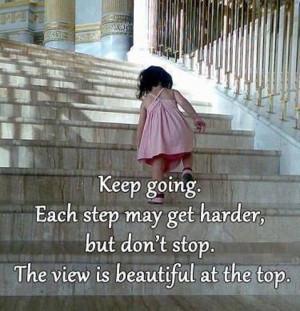 Keep Going Each Step May Get Harder-1