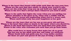 mother daughter quotes – mothers love poems happy mothers day 2013 ...
