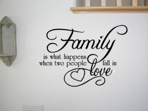 FAMILY LOVE QUOTE VINYL WALL QUOTE DECAL STICKER ART DECOR Wall