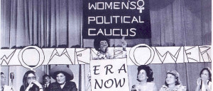 Photo of 1972 meeting of the National Women's Political Caucus