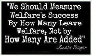 Ronald Reagan and welfare