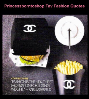 Famous Fashion Quote: Karl Lagerfeld