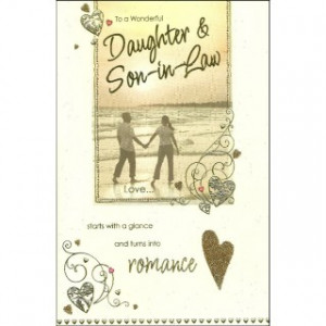 1st Wedding Anniversary Gift For Daughter And Son In Law : To A Wonderful Daughter & Son-in-Law Wedding Anniversary Card ...
