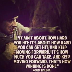 Boxing Quotes From Rocky Rocky quotes. via tara jones