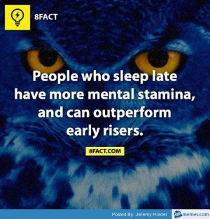 People who sleep late are smarter