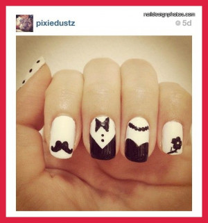 red and black wedding nail designs | black and white nail designs for ...