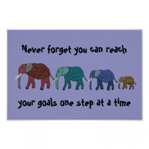 Elephant Motivational Poster