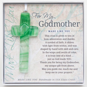 My Godmother Cross: Handmade Glass picture