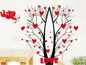 Wedding-Wall-Decals-Removable-Vinyl-Wall-Stickers-Love-Tree-Quotes ...