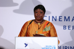fatou bensouda exclusive coverage fatou bensouda attends the cinema