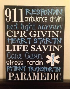11 x 14 Personalized Subway Art. Sayings for EMT/Paramedic. Wall Decor ...