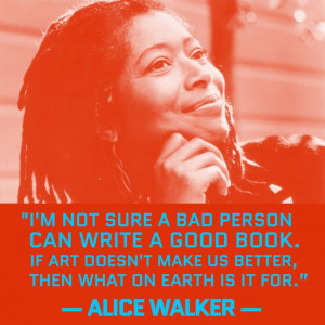 not sure a bad person can write a good book. If art doesn't make ...