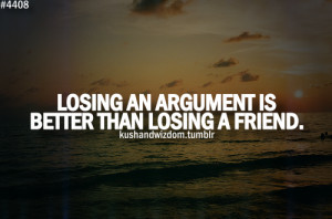 Argument Quote and Friendship