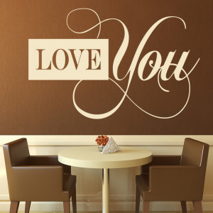 about Love You Artistic Wall Stickers Love Quotes Wall Quotes Wall Art ...