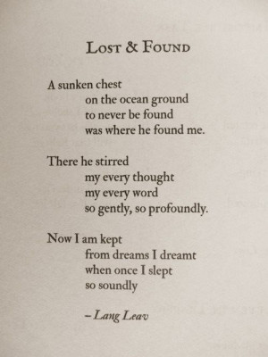 Lost and Found~ Lang Leav (One of my new favorite writers! always such ...