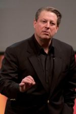 Al gore giving a global warming talk in Mountain View, CA on 7 April ...