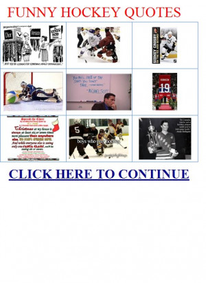 funny hockey quotes – Memorable Quotations