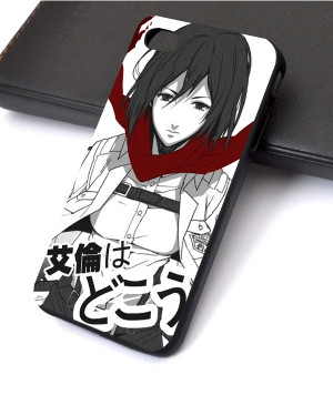 ... no Kyojin Attack on Titan Mikasa Ackerman iPhone 4/4s/5 Phone case