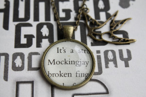 Hunger Games 'Mockingjay' Quote Necklace