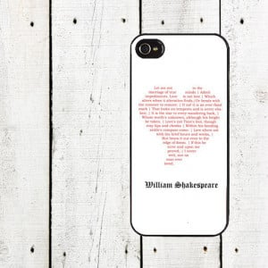 Shakespeare iPhone Case - Shakespeare Quote iPhone Case- iPhone 5 Case ...