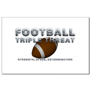 Catch Phrase Gifts > TOP Football Slogan Mini Poster Print