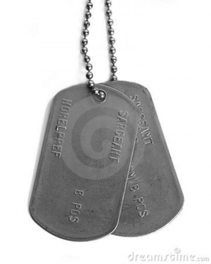 Gallery For gt Real Military Dog Tags Hanging