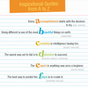 to Z List of Inspirational Quotes for Students - Teaser