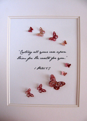 Bible Verse. Poem. Quote. Song. Your Own Phrase. 3D Butterfly Word Art ...