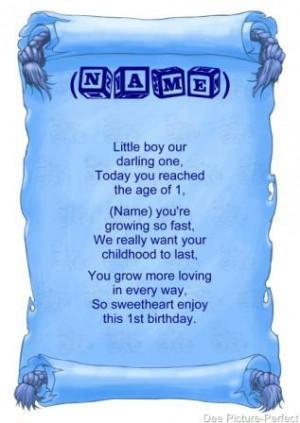 Personalised Poem Baby Boy
