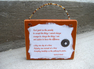 Serenity Prayer Plaque quotes God Grant Me wood signs handmade