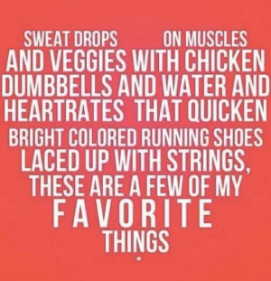 Favorite Things Fitness Quote