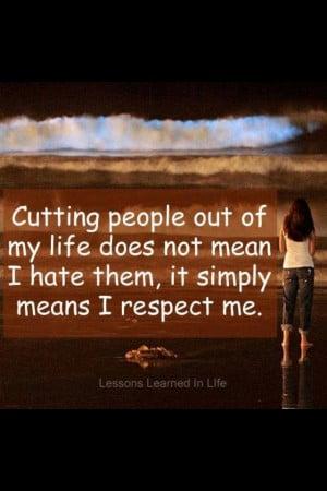 Respect me.