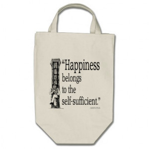 Aristotle Quote - Happiness - Quotes Sayings Bags