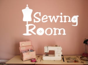 Sewing Room Wall Decal