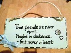 gift plaque/sign True friends/best friends/friendship/quote / birthday ...