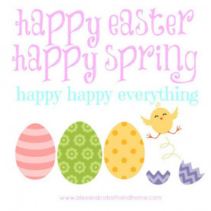 happy easter happy spring #quote #easter #spring #chicks #eggs