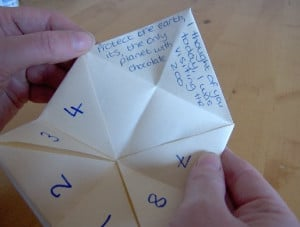 Make a Cootie Catcher (Origami Fortune Teller)