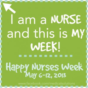 am a nurse and this is my week!