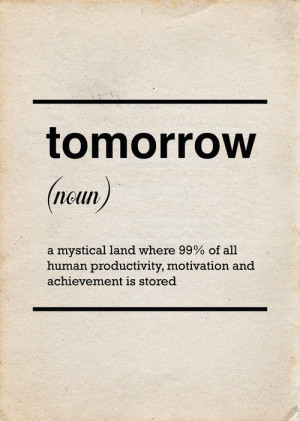Tomorrow is a new day and hopefully after a good night's sleep I ...