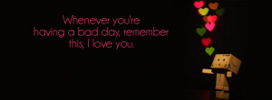 Remember I love You Facebook Cover Photo