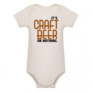 Craft Beer or Nothing Organic Baby Bodysuit