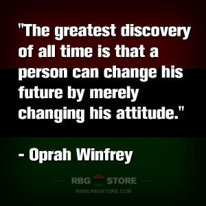 RBG Quote of the Week: Oprah Winfrey - Attitude