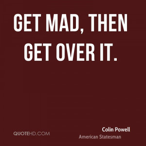 Colin Powell Anger Quotes