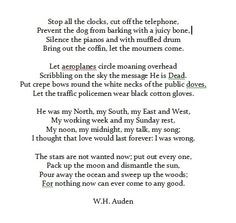 The best Eulogy I have ever heard, from